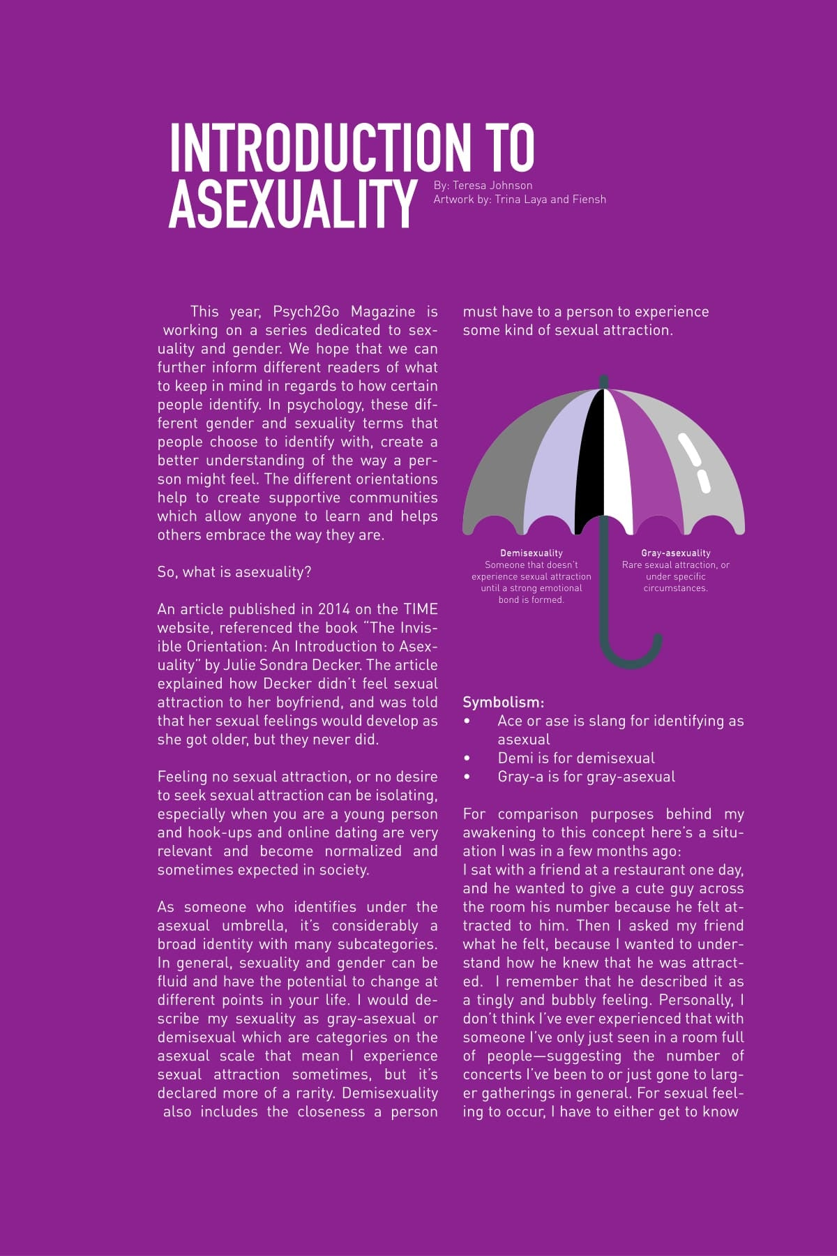 Psych2Go Magazine #6 - Asexuality Awareness (Physical)