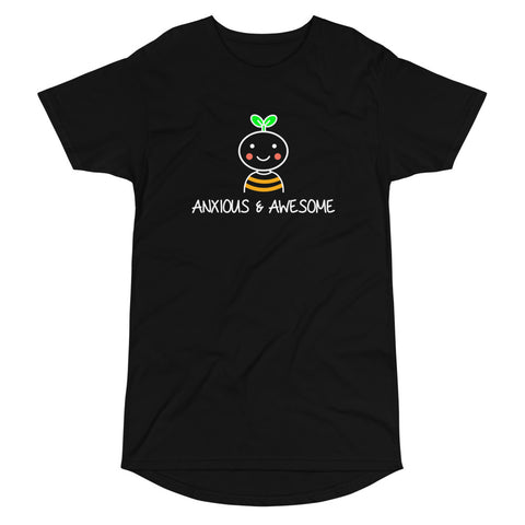"""Anxious & Awesome"" Long Body Urban Tee"
