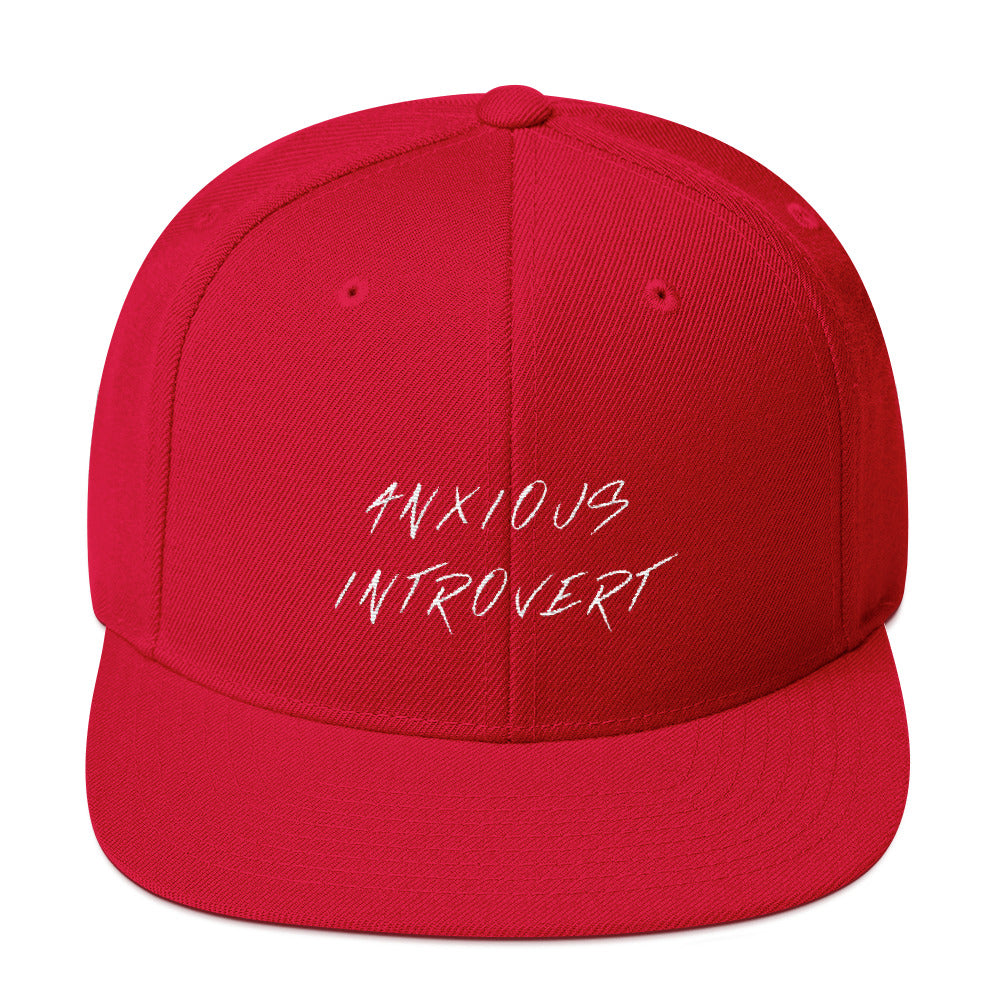 Anxious Introvert Snapback Hat