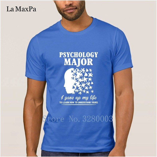 Super t shirt men psychology major learn how to understand lives t-shirt for men Spring Kawaii tshirt for men Basic Solid