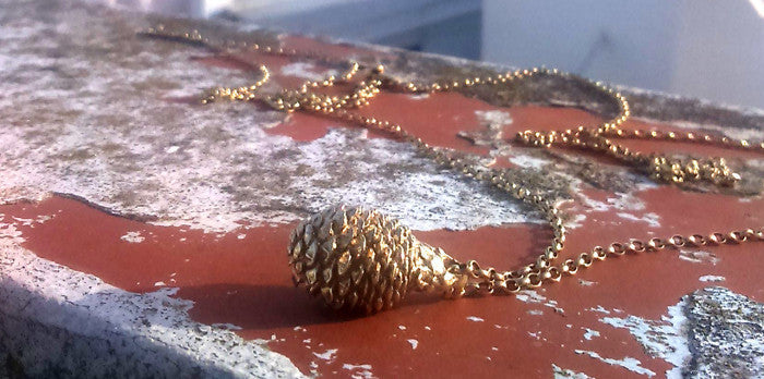 Baby Pine Cone Necklace