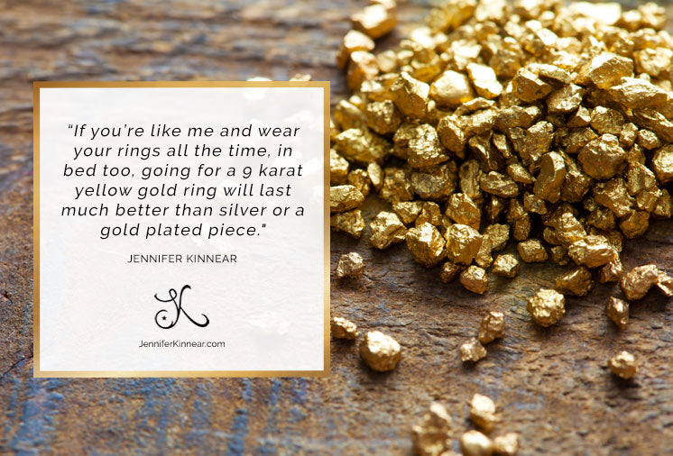 375 Jewellery - 9 Karat Yellow Gold Jewellery Facts - Jennifer Kinnear