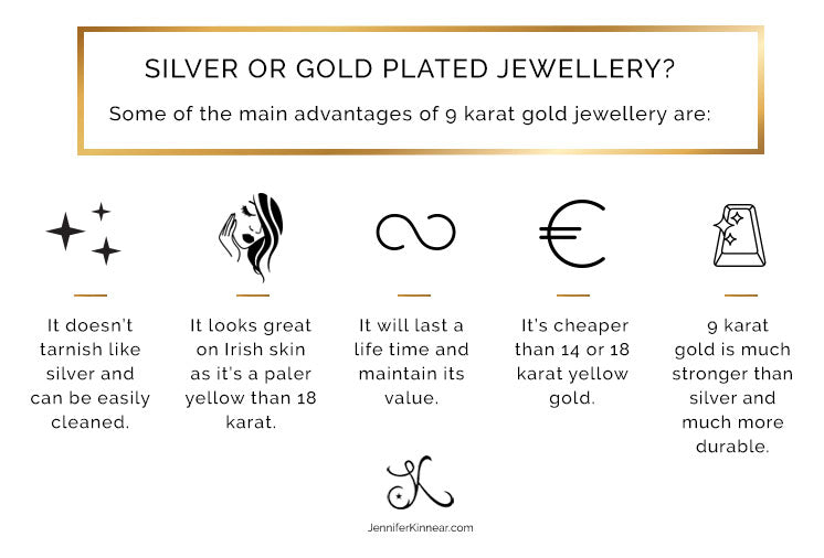 Advantages of 9 Karat Gold Jewellery - Jennifer Kinnear