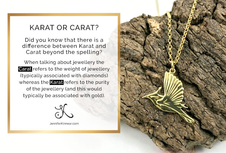 Difference between Karat and Carat - Jennifer Kinnear