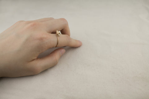 gold plated whelk ring