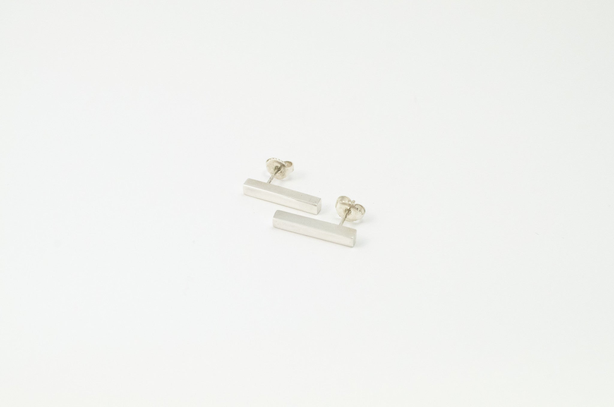 BLOCK bar earrings - silver