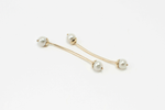 TWIGGY EARRINGS pearl - gold - Jennifer Kinnear Jewellery
