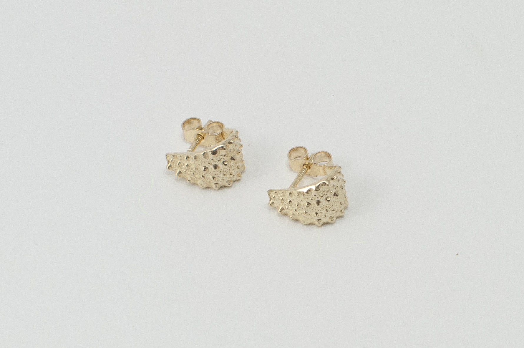 SEA URCHIN stud earrings - gold - Jennifer Kinnear Jewellery Ocean Collection