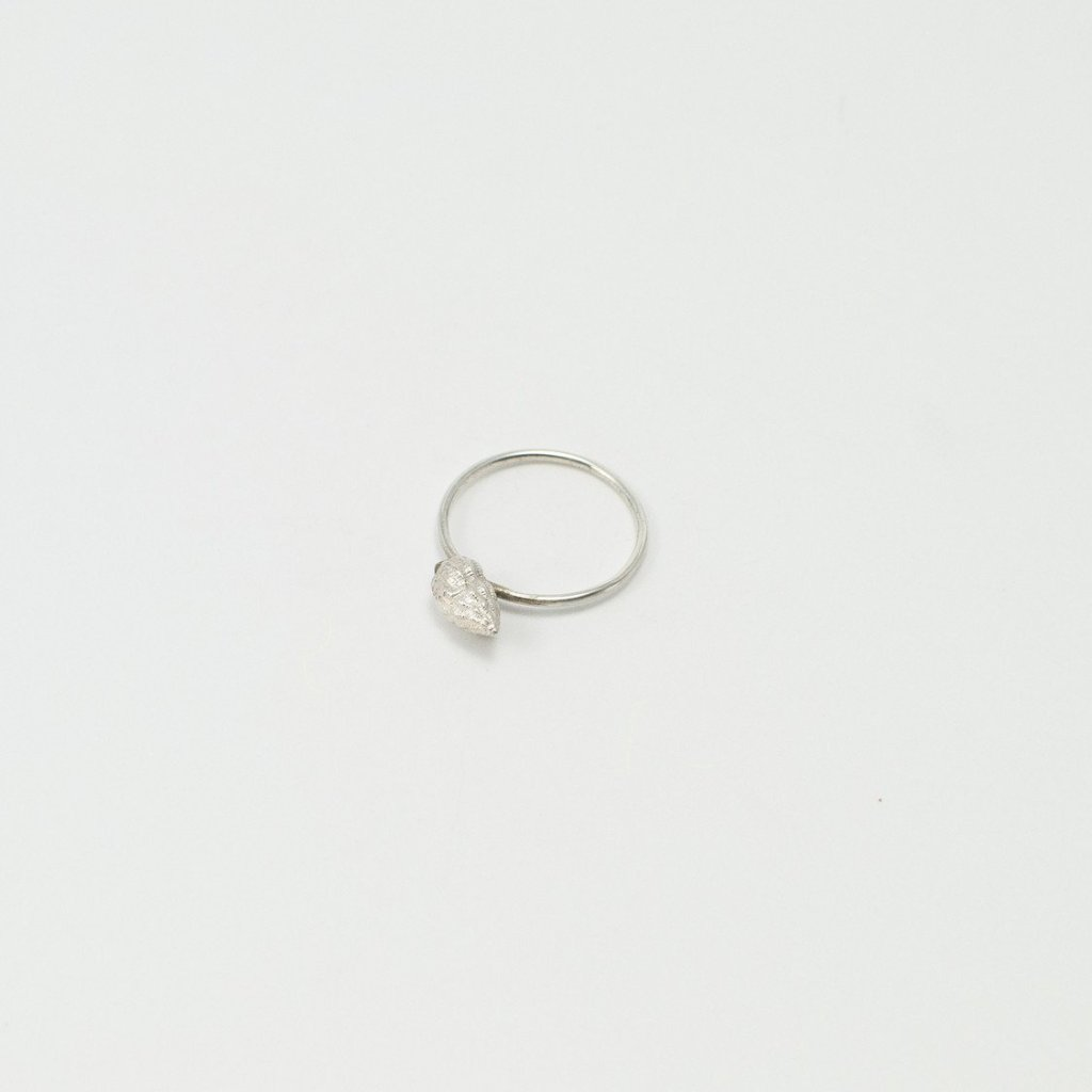 WHELK SHELL ring - silver - Jennifer Kinnear Jewellery - shell collection