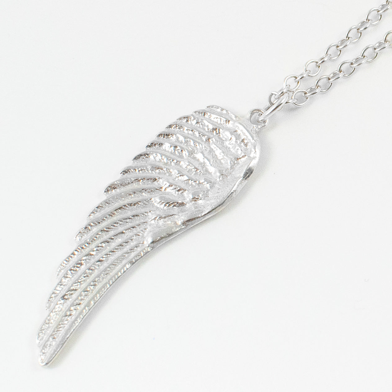 Angel wing necklace - silver - Jennifer Kinnear Jewellery