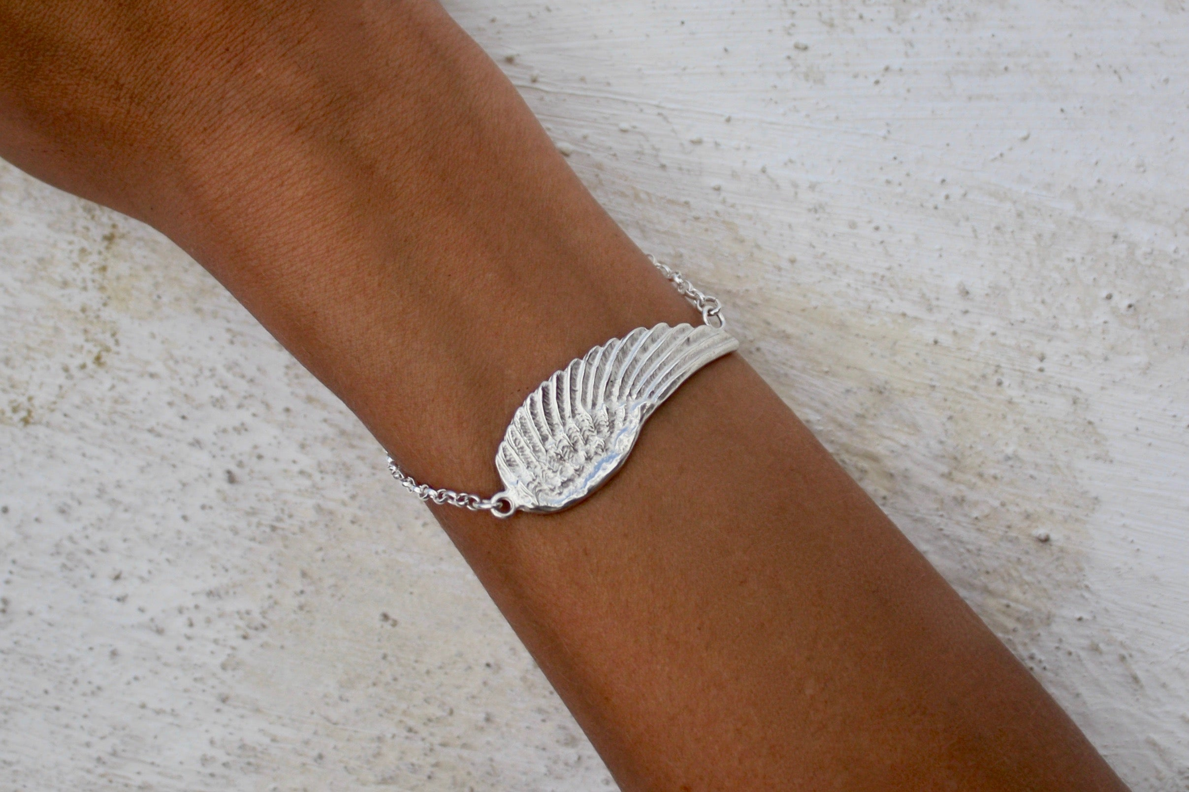 ANGEL WING bracelet - silver- Jennifer Kinnear Collection Charms