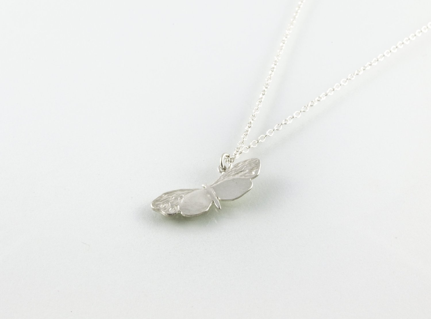 BUTTERFLY necklace - silver - Jennifer Kinnear Jewellery - charms collection