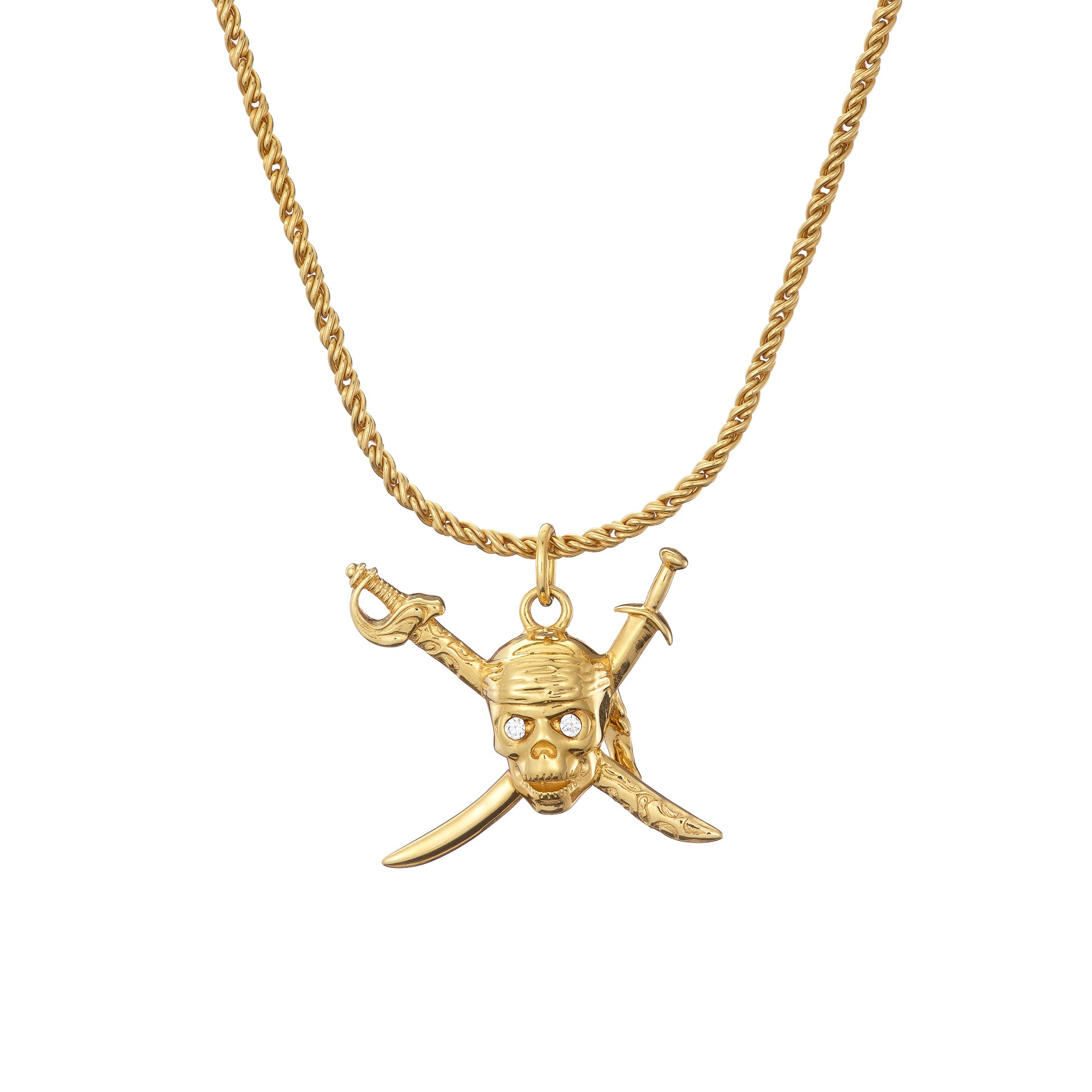 SKULL and SWORDS Necklace