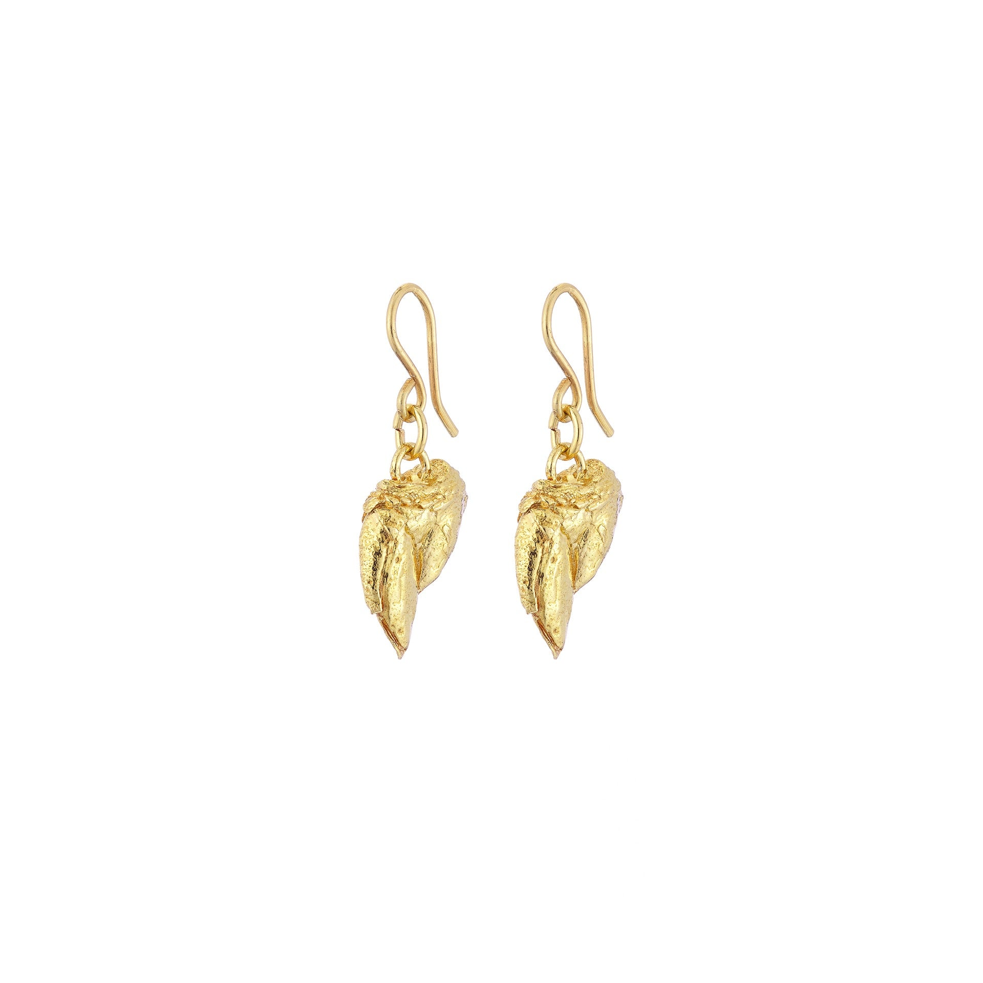 Percebes Shell Earring Large - Gold Plated