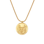 Grace O´Malley (Granuaile) medallion - gold plated silver