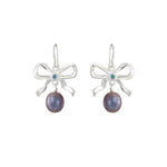 Pearl and Bow Earrings