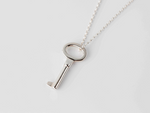 KEY necklace - silver - Jennifer Kinnear Jewellery - charms collection