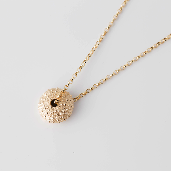 SEA URCHIN necklace - gold - Jennifer Kinnear Jewellery ocean collection
