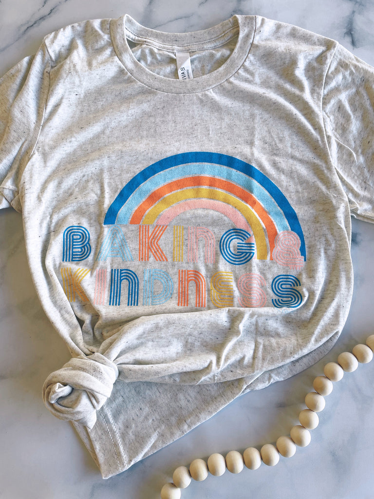 Baking & Kindness-Light Heathered Gray
