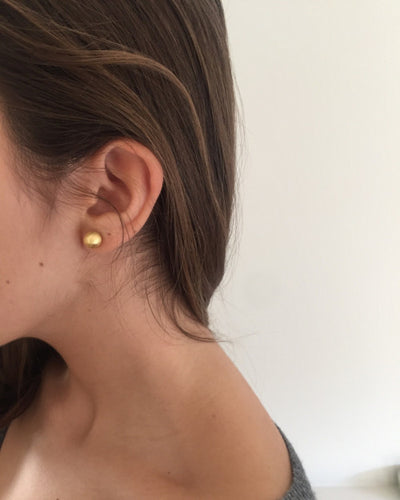 Gold Orb Studs