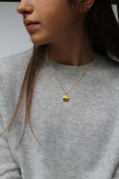 Gold Cornflake Necklace