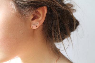 Rose Gold Tusk Studs