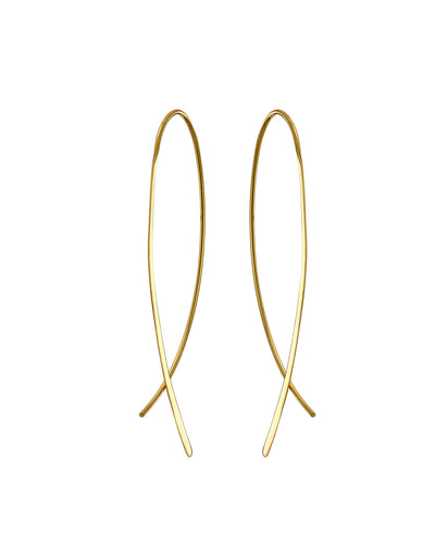 Gold Crossover Earrings