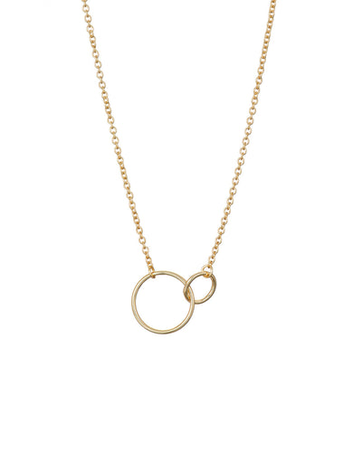 Gold Small 2 Circle Necklace