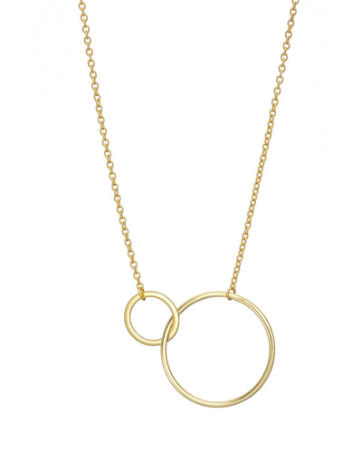 Gold Large 2 Circle Necklace