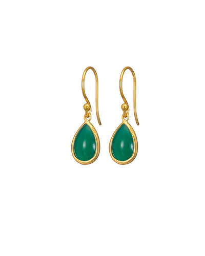 Green Onyx Teardrop Earrings