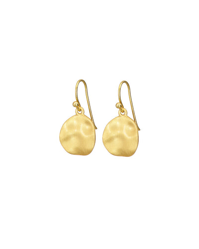 Gold Cornflake Earrings