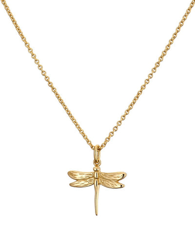 Gold Dragon Fly Necklace
