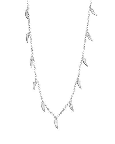 Silver Chilli Pod Necklace