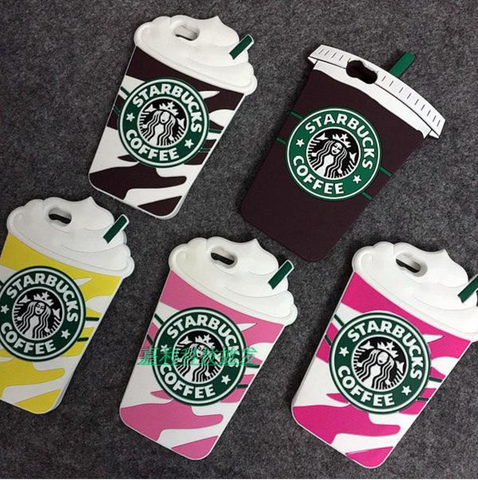 3D Silicon Starbucks Coffee Iphone Case
