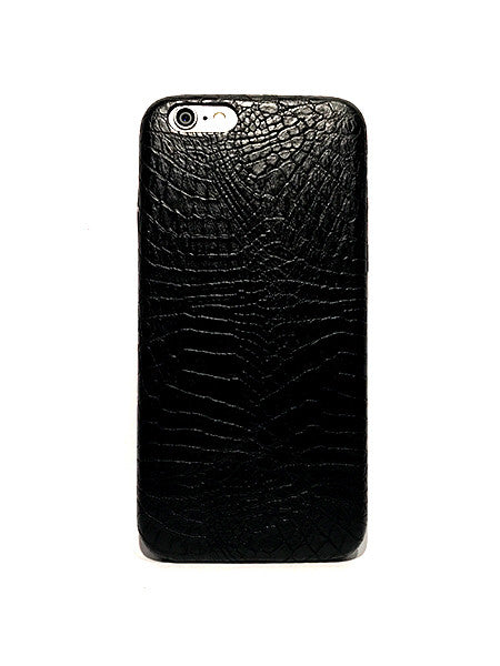 Snake Leather iPhone Case - Black