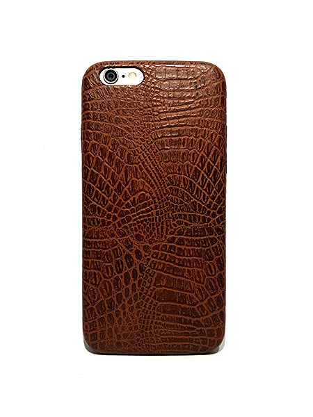 Supreme Snake Leather iPhone Case - Musk