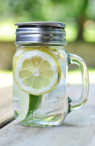 Lemon and Lime Infusion in a Mason Infuser