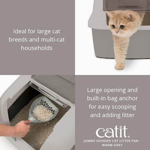 Catit Jumbo Hooded Cat Litter Pan