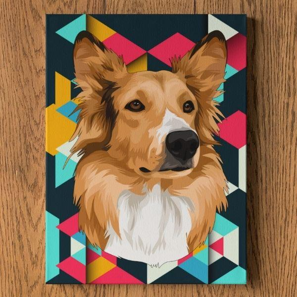 white-swiss-shepherd-dog-painting