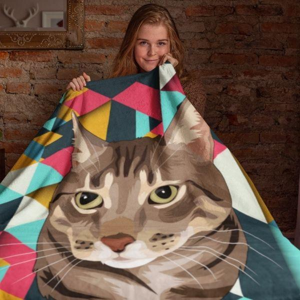 cat-face-blanket