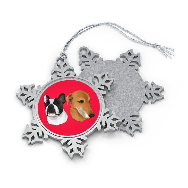 Personalized Blue Lacy Ornament