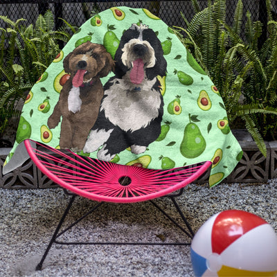 Custom Pet Art Beach Towel