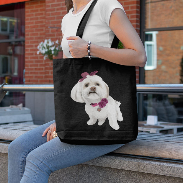 irish-water-spaniel-tote-bag