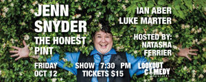 Lookout Comedy Festival Presents: Jenn Snyder at the Honest Pint