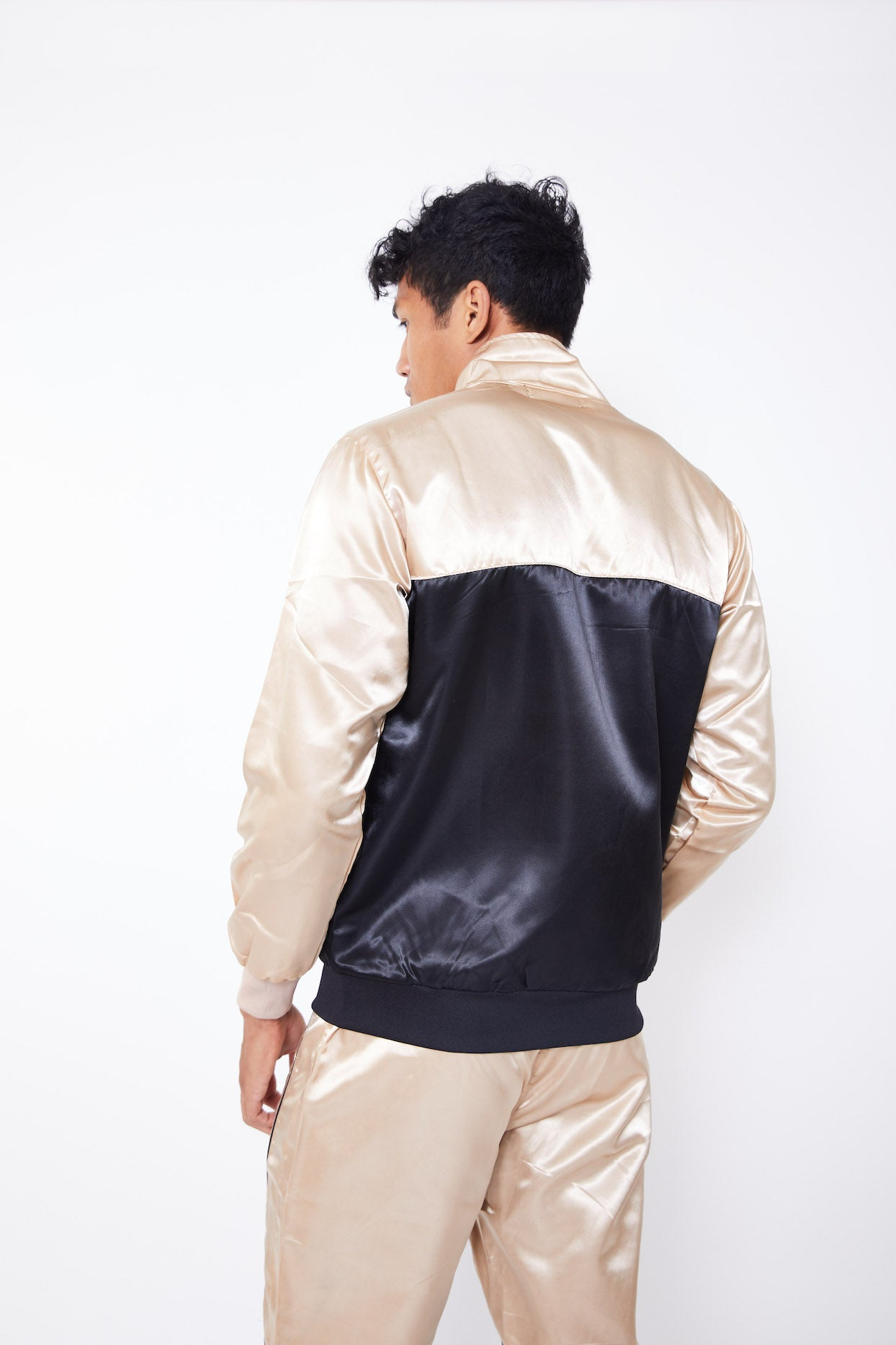 REPTHEBRAVE COLOUR BLOCK TRACKSUIT JACKET-CHAMPAGNE/BLACK