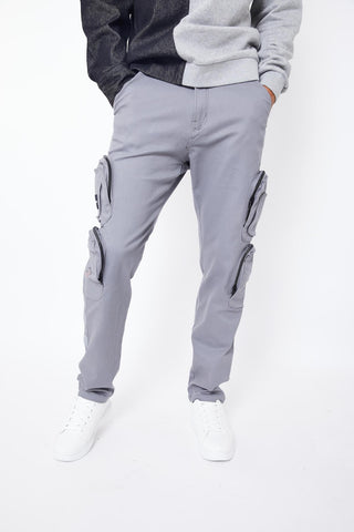 REPTHEBRAVE CARGO TROUSERS-GREY