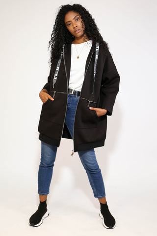 BLACK ILLUSION OVERSIZED JACKET
