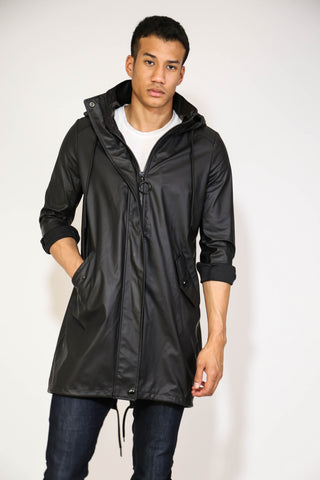 MR ZUBS BLACK LONGLINE JACKET