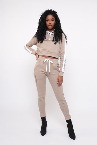 REPTHEBRAVE NUDE TRACKSUIT CO-ORD TOP