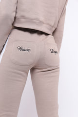 REPTHEBRAVE NUDE TRACKSUIT CO-ORD BOTTOMS